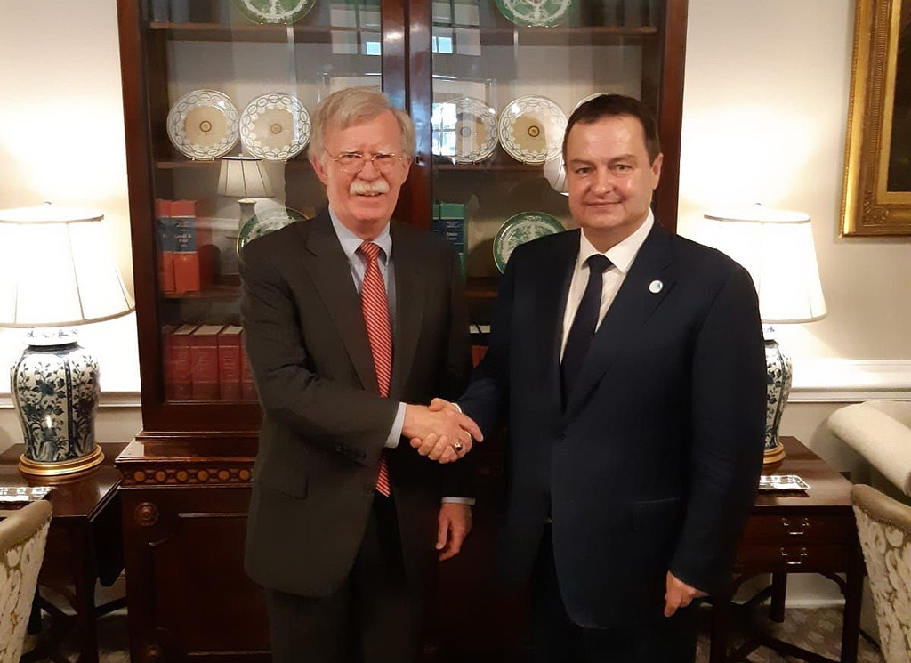 Ivica Dacic with John Bolton