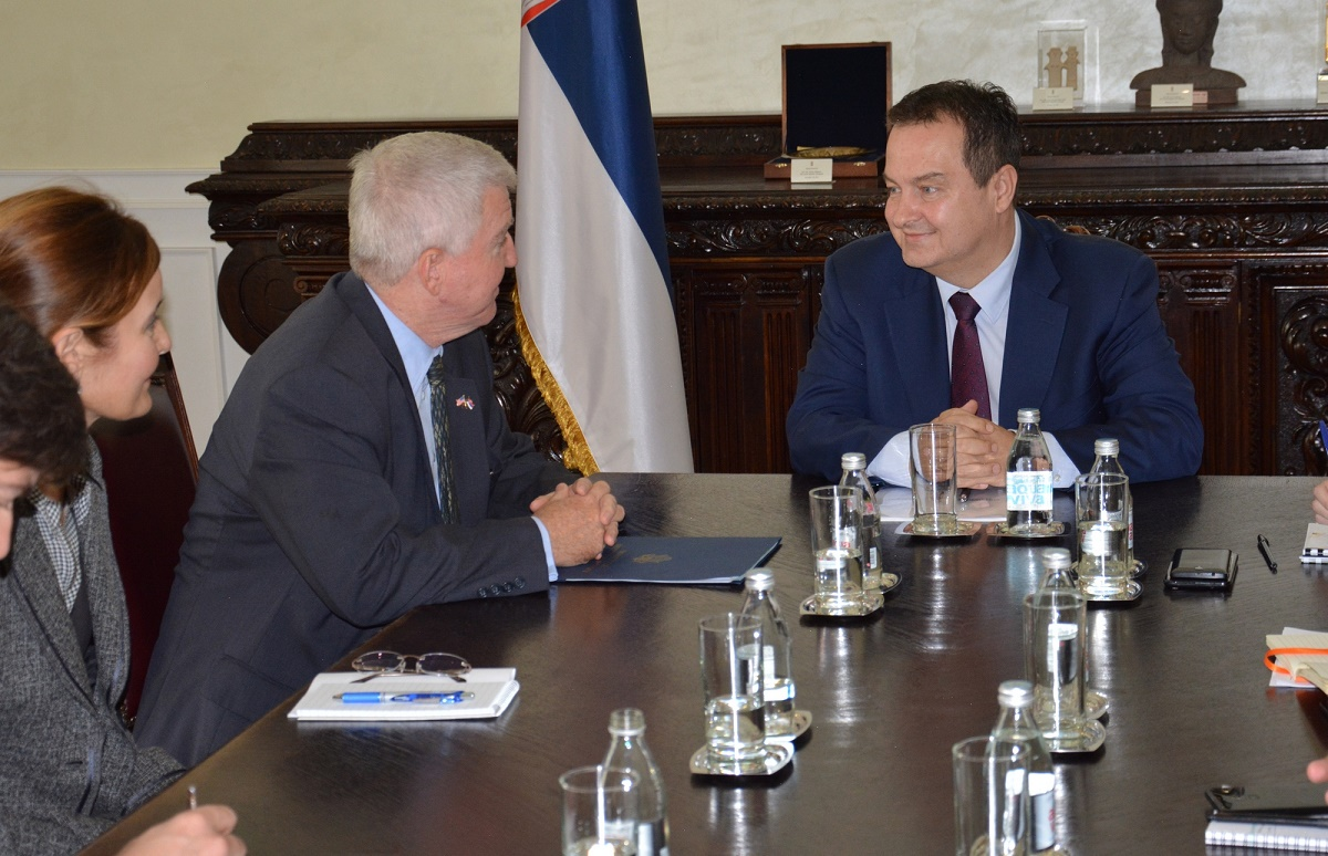 Ivica Dacic with Kyle Scott