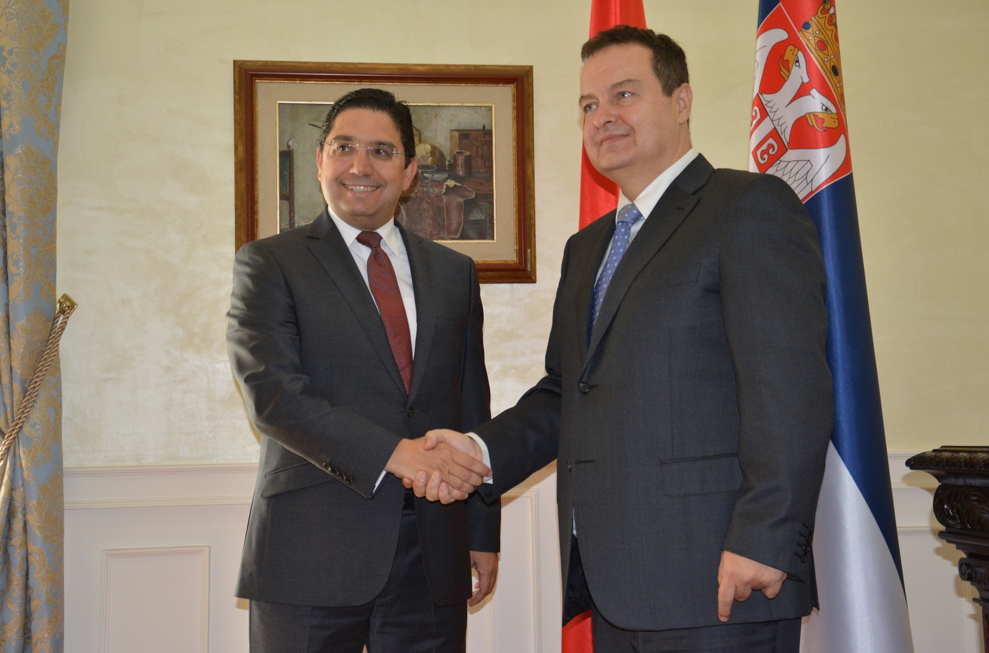 Ivica Dacic with Nasser Bourita
