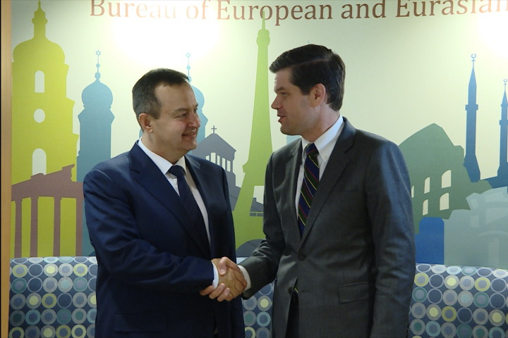 Ivica Dacic with Wess Mitchell