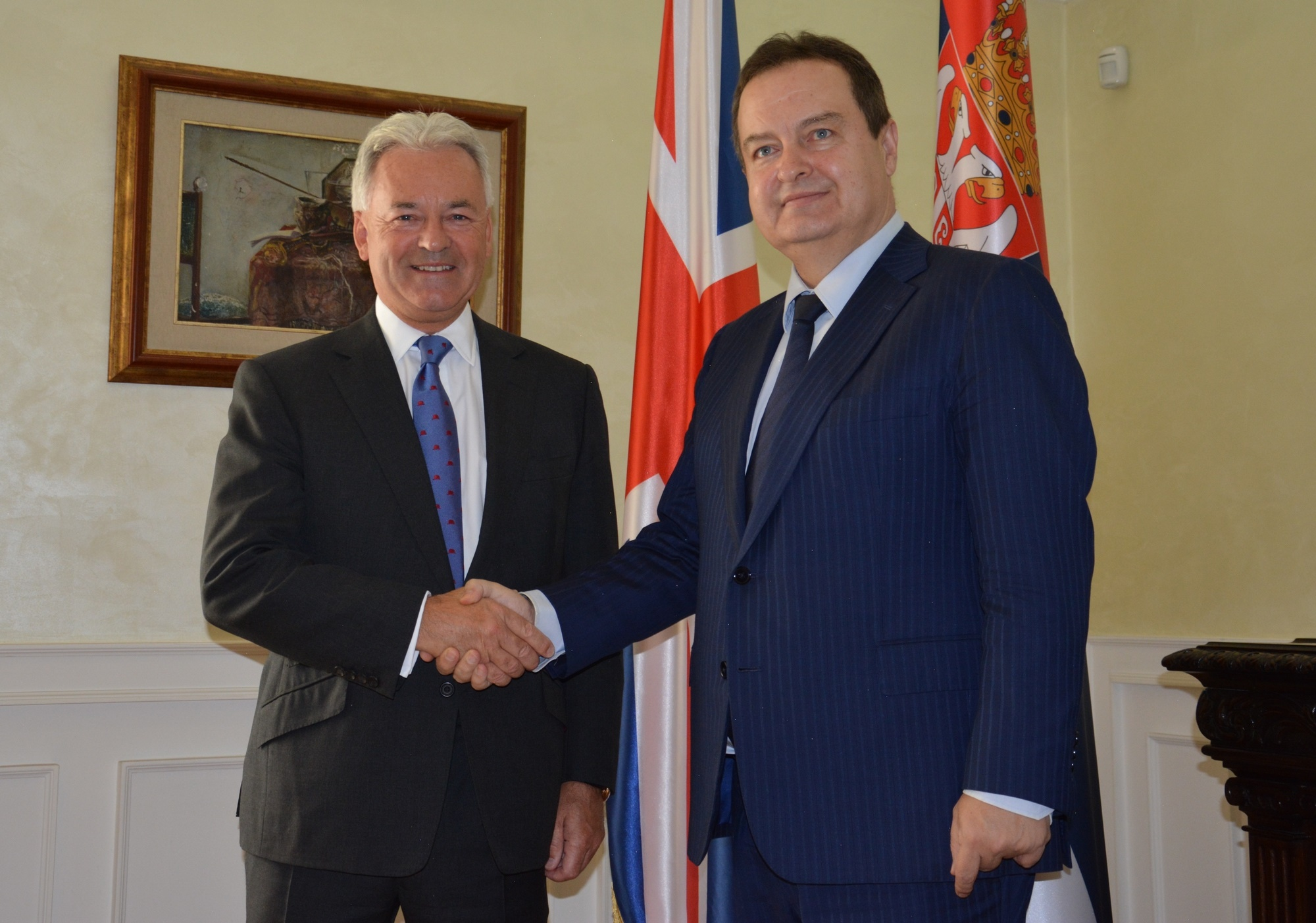 Ivica Dacic with Sir Alan Duncan
