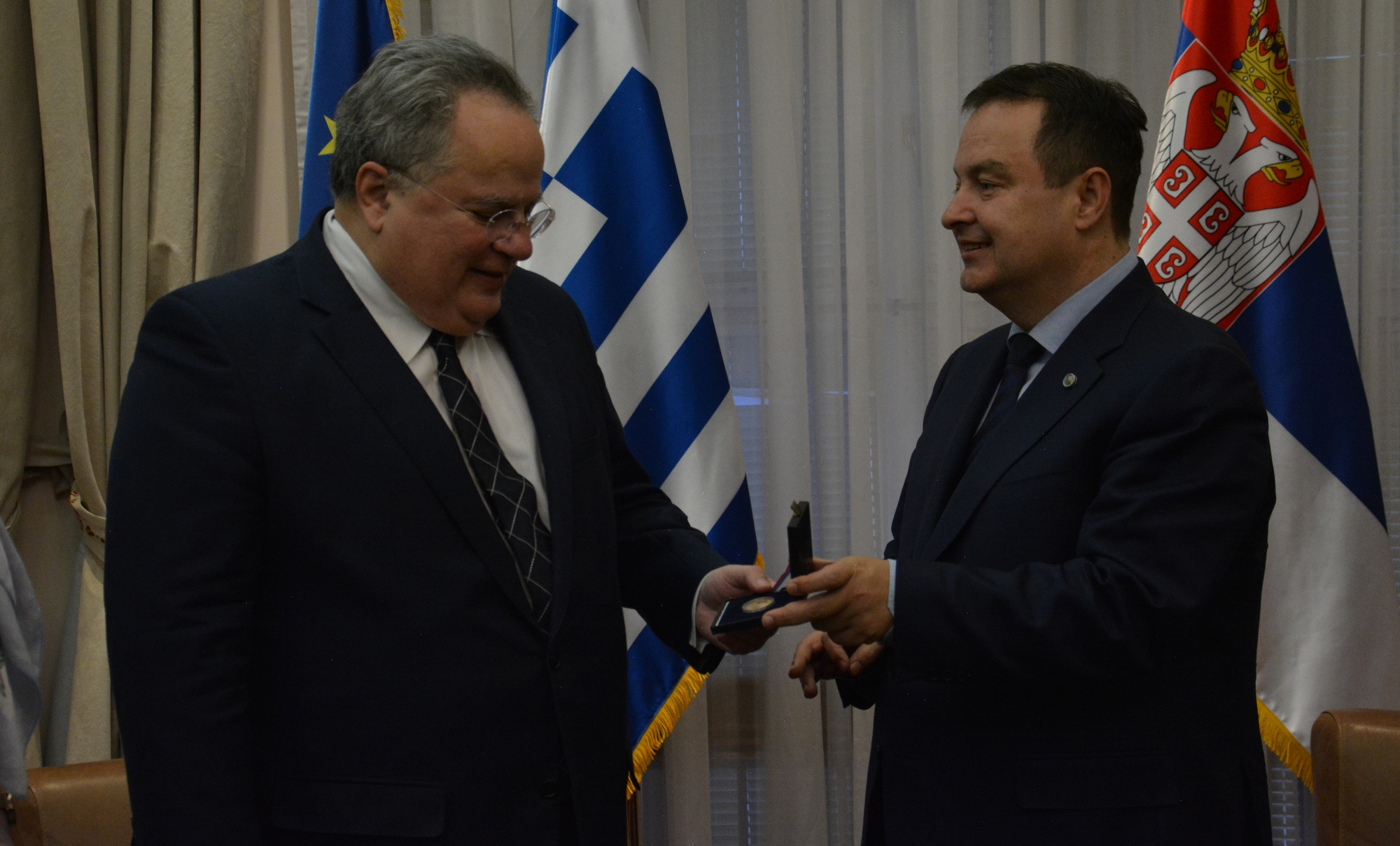 Ivica Dacic with Nikolaos Kotzias