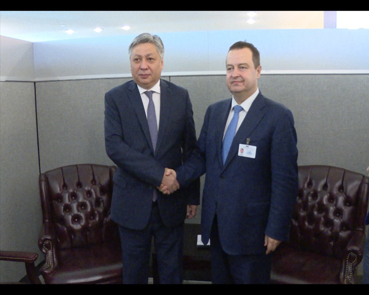 Ivica Dacic with H.E. Mr. Erlan Abdyldayev
