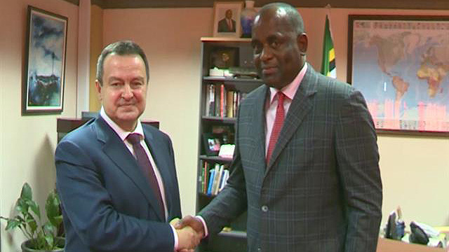 Ivica Dacic with Roosevelt Skerrit