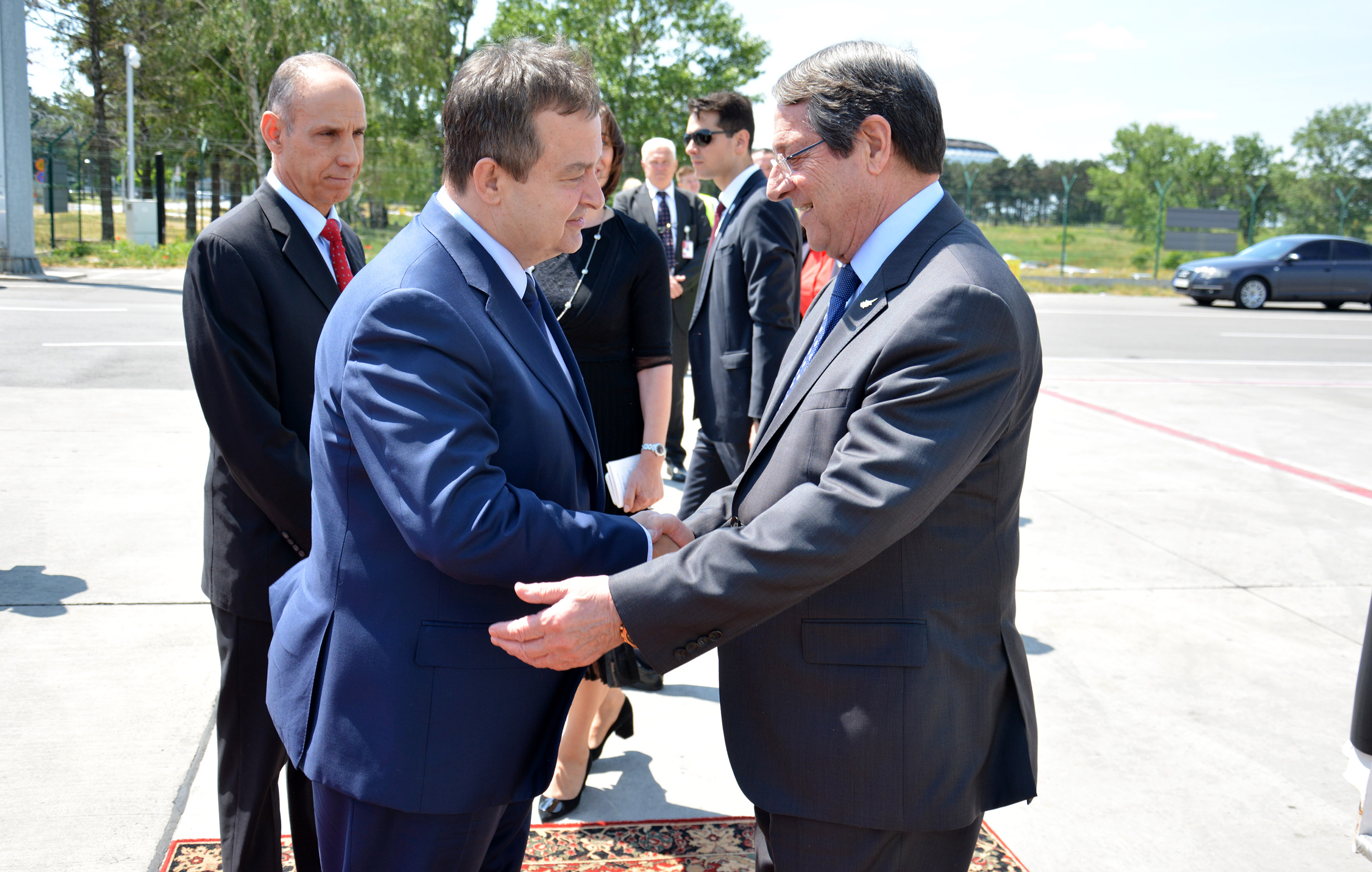 Ivica Dacic with a boss of Republic Cyprus