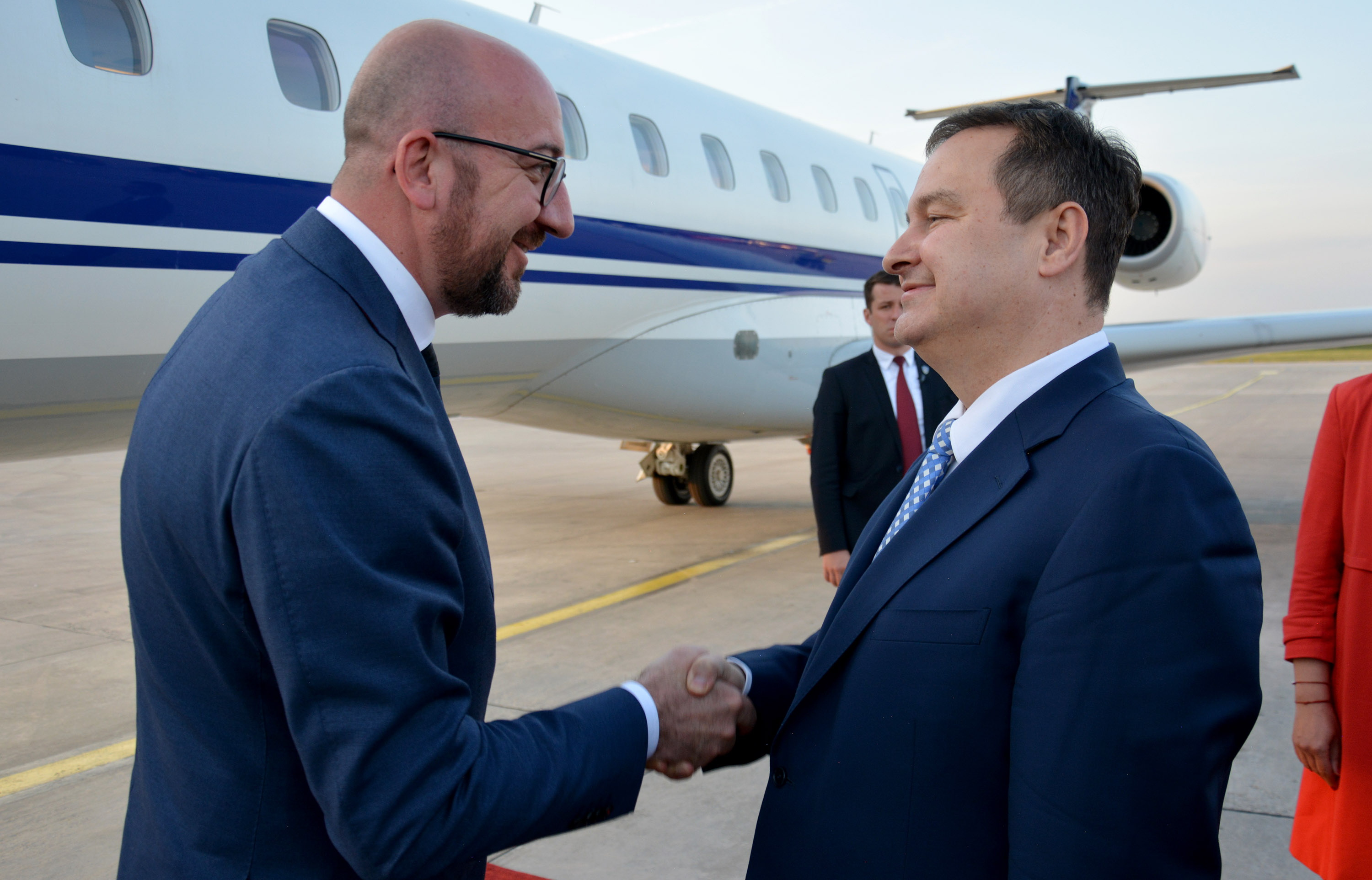 Ivica Dacic and Mr. Charles Michel