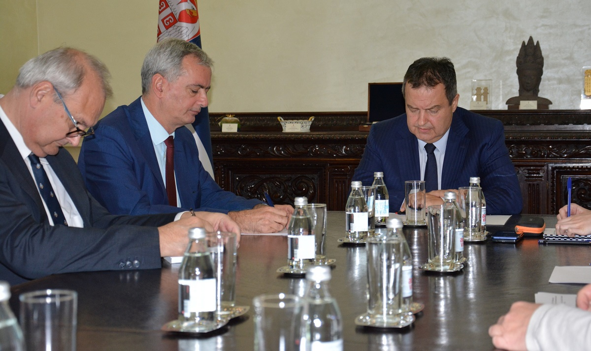 Ivica Dacic with Adam Koenraad