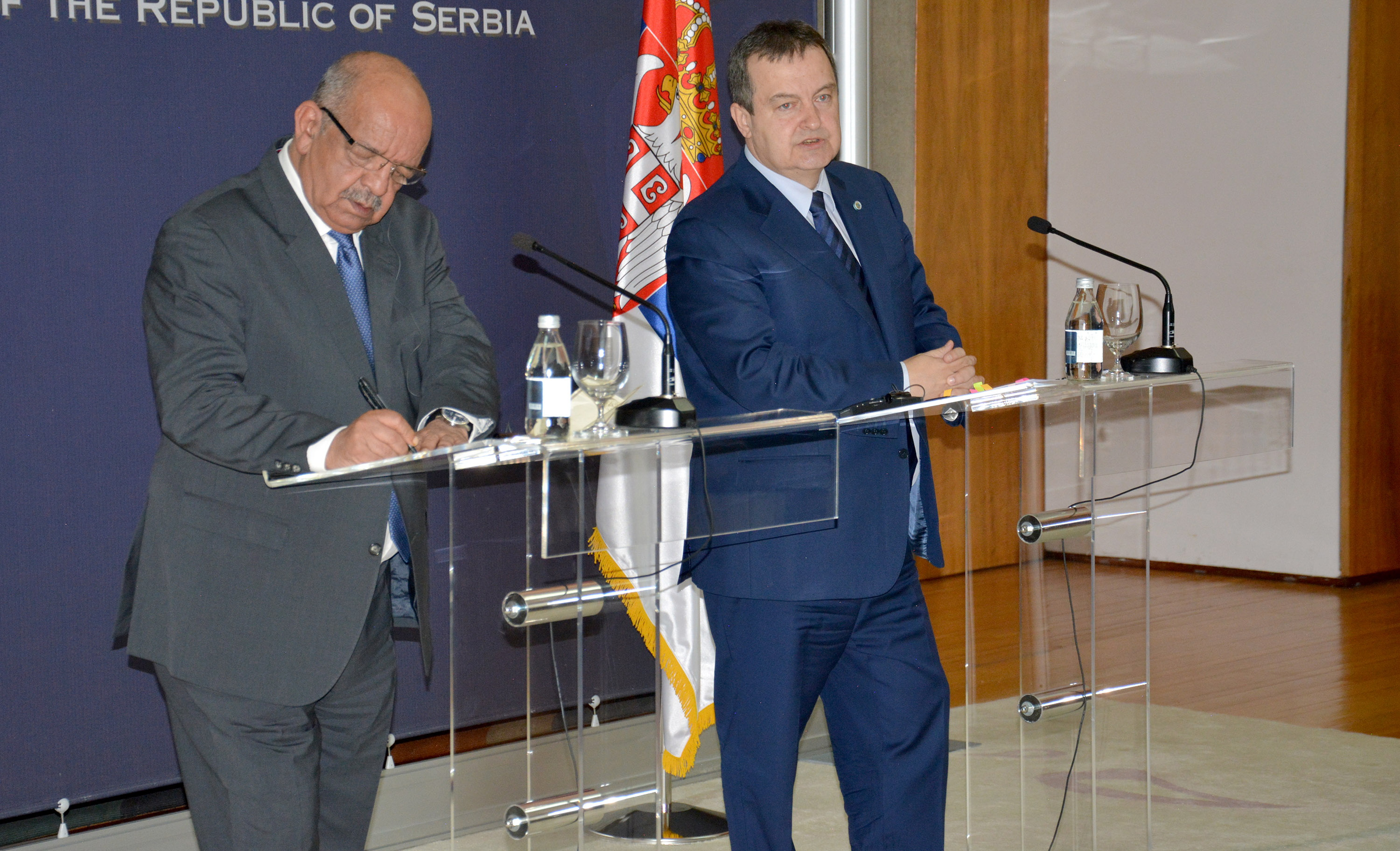 Ivica Dacic and Mr. Abdelkader Messahel