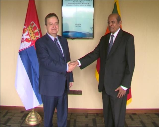 Ivica Dacic with Tilak Marapana