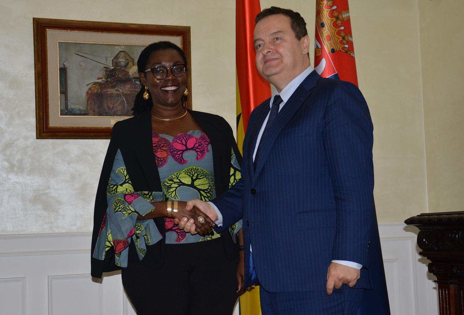 Ivica Dacic with Ursula Owusu Ekuful