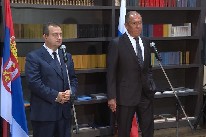 Ivica Dacic with Sergey Lavrov