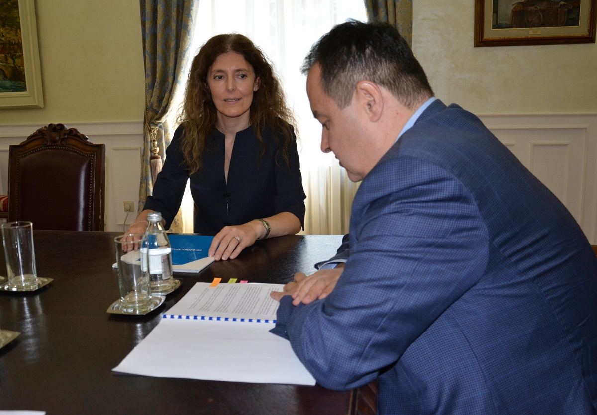 Ivica Dacic with Ms. Michela Telatin