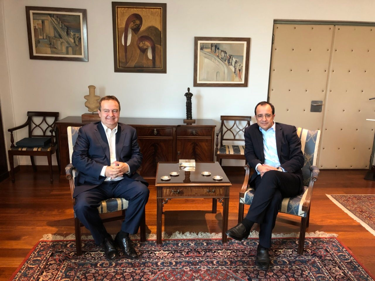 Ivica Dacic with Nikos Christodoulides