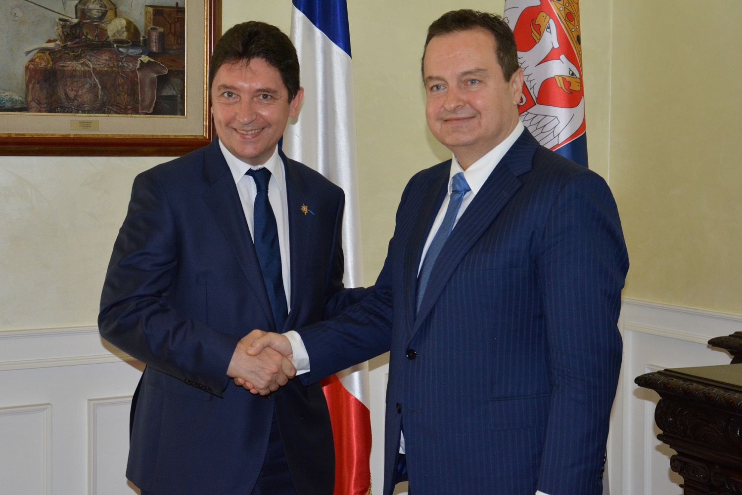 Ivica Dacic and Olivier Cadic