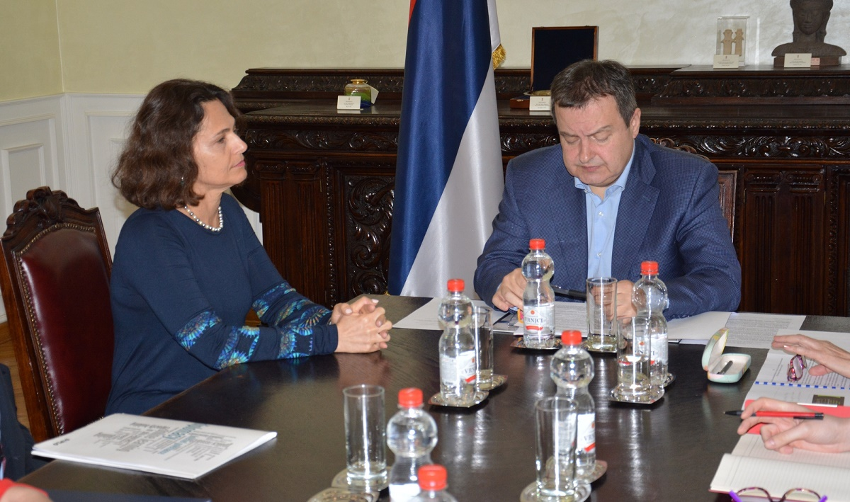 Ivica Dacic and Ms. Alona Fisher Kamm