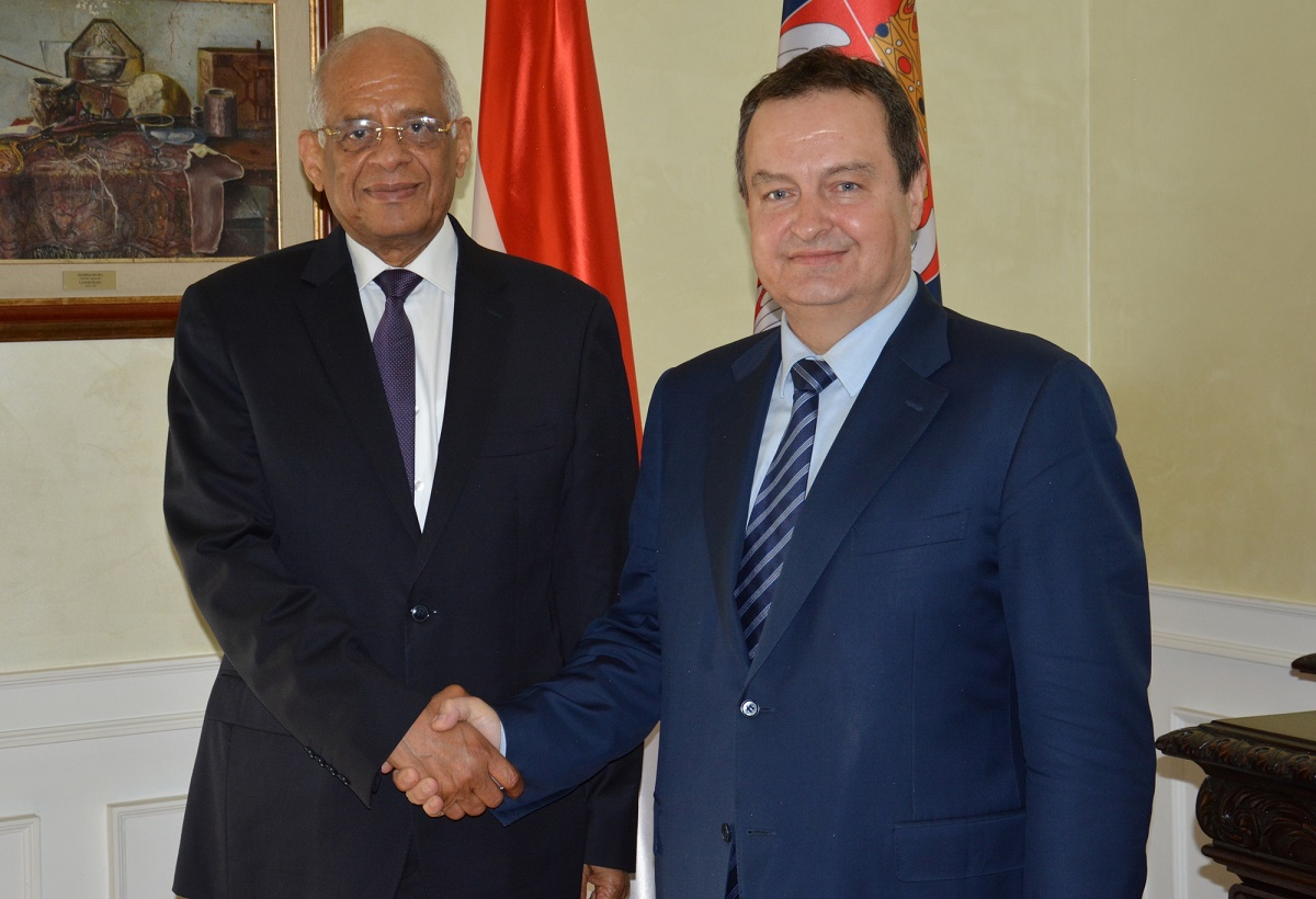 Ivica Dacic with Ali Abdel Aal Sayyed Ahmed