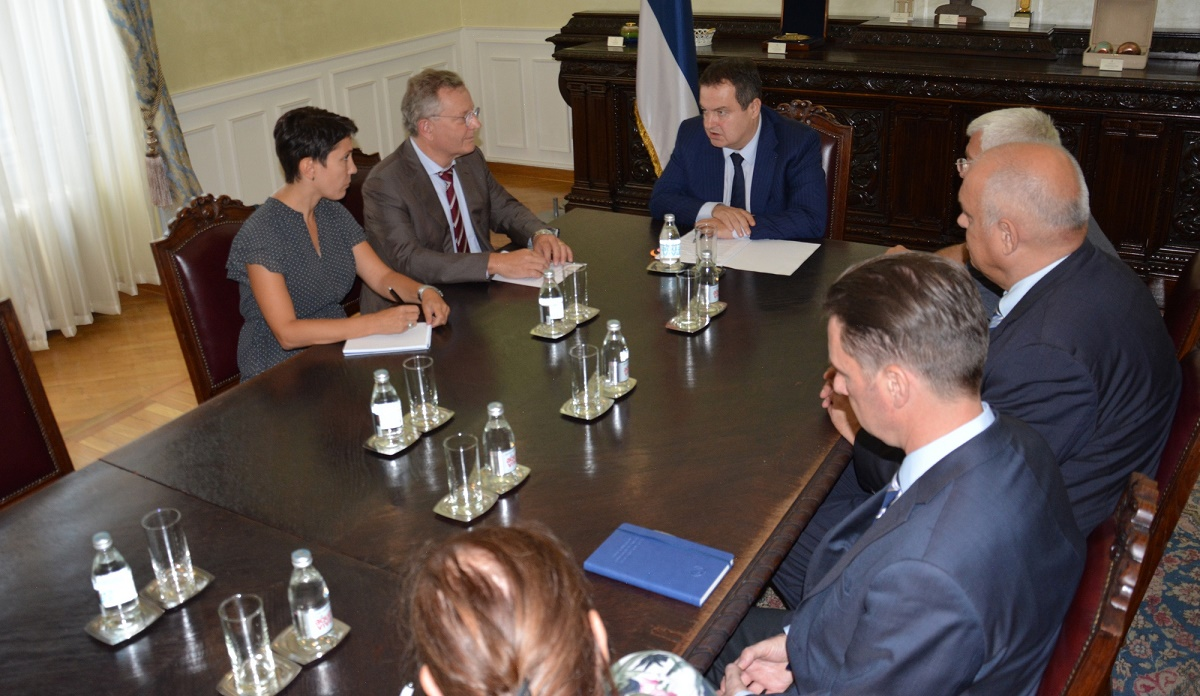 Ivica Dacic with Mr. Stephan Sellen