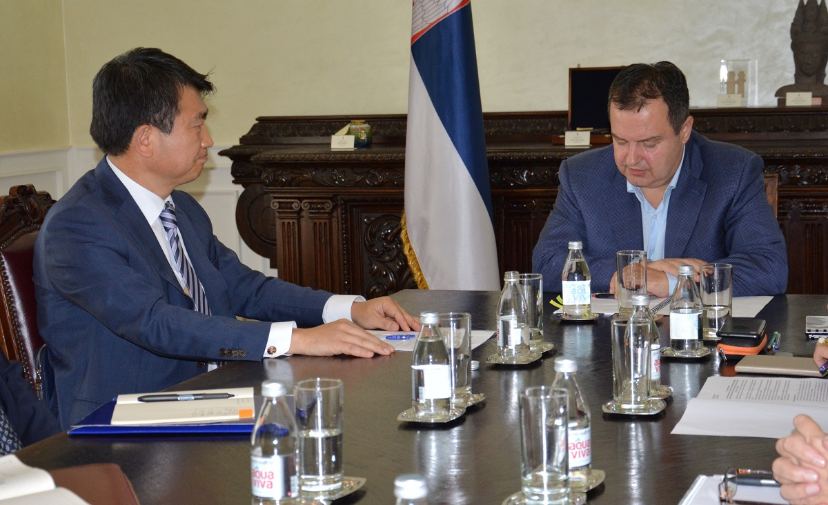 Ivica Dacic with Mr. Joo Dae Jong