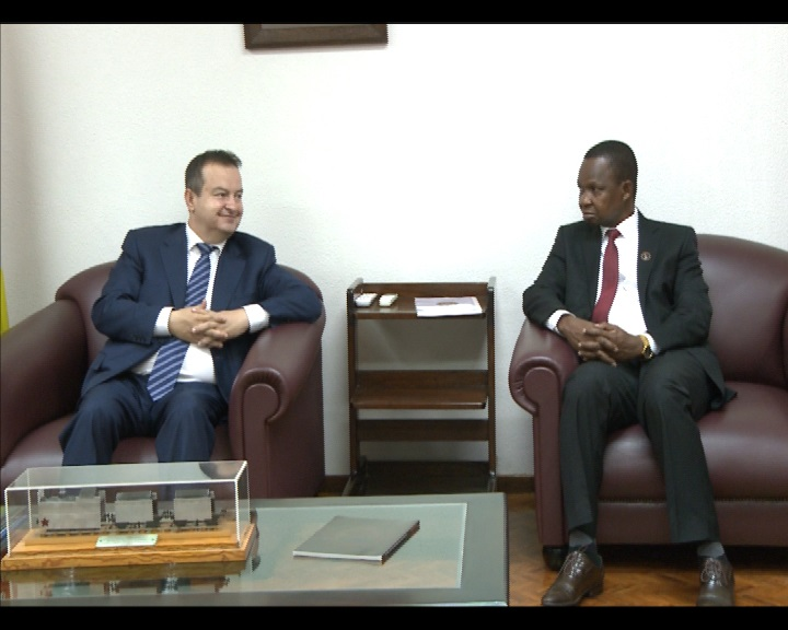 Ivica Dacic with Mr. Roque Silva