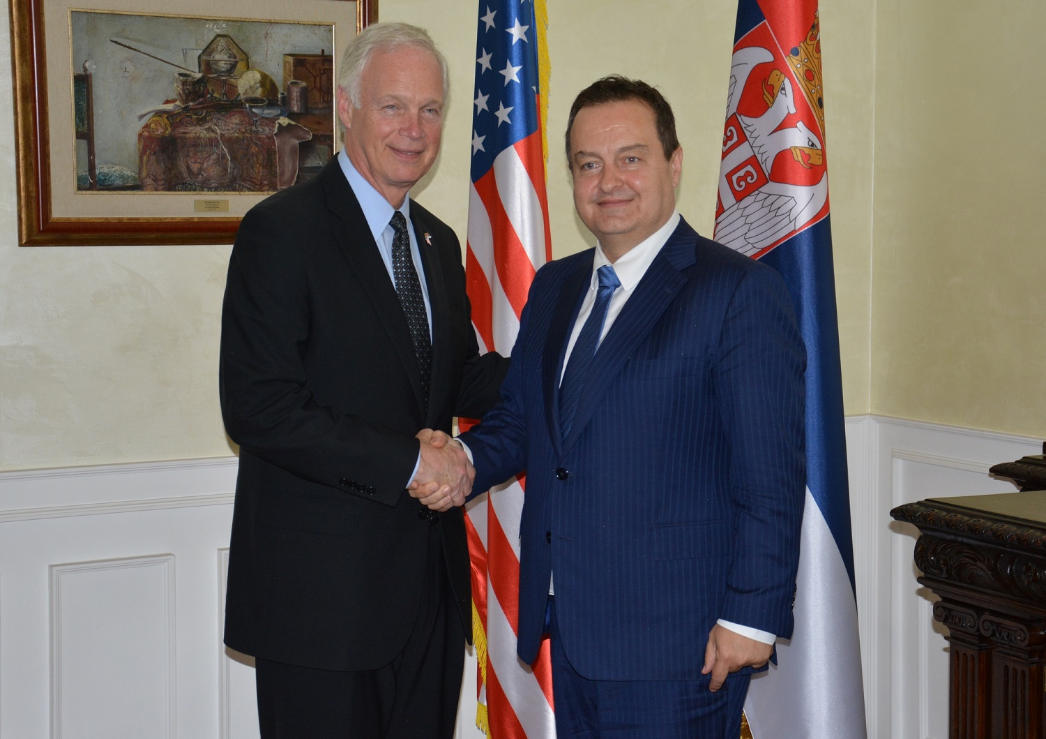 Ivica Dacic with Ron Johnson