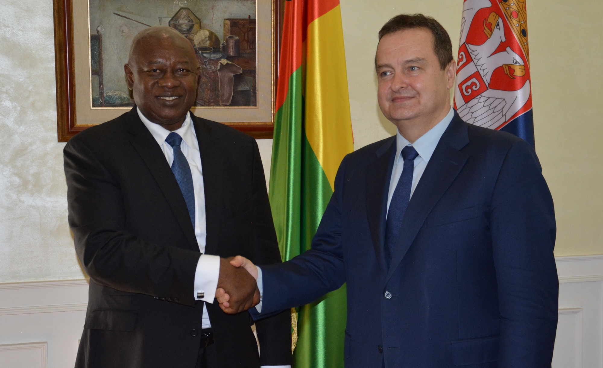 Ivica Dacic with Cipriano Cassama