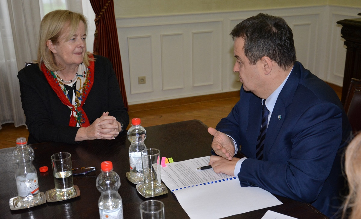 Ivica Dacic and Mrs. Orla O'Hanrahan