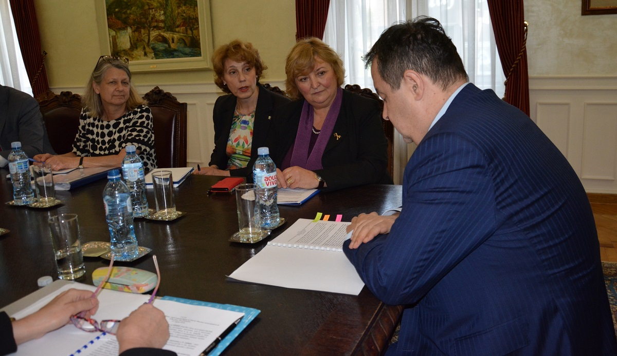 Ivica Dacic with Pascale Moreau