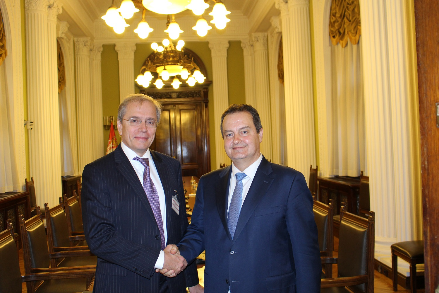 Ivica Dacic with Dmitry Pankin